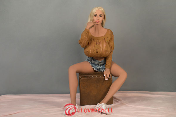 blonde silicone adult doll