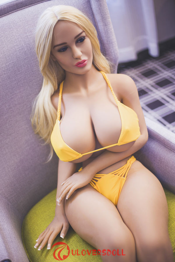 blonde huge breast sex doll