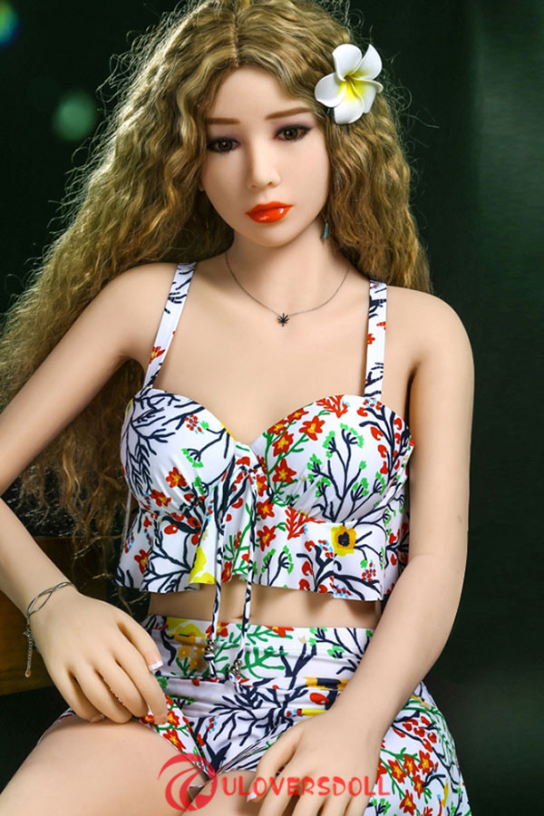 realistic blonde curly hair sex doll