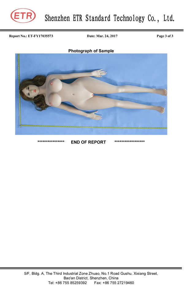 sex doll fda report